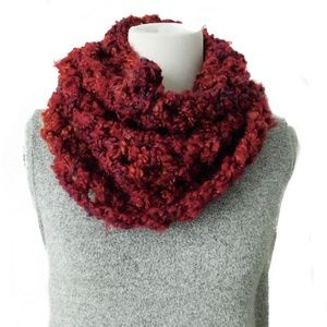 Women's Winter Scarf Red Cowl Infinity Scarf